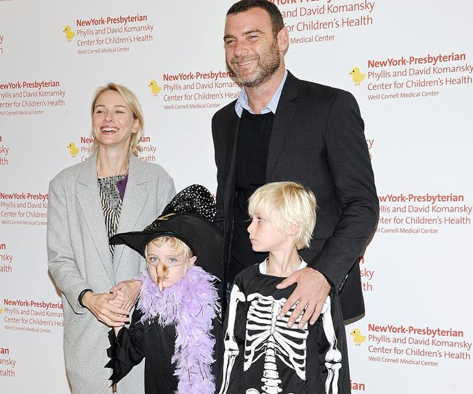 Naomi Watts with her two kids, Samuel and Alexander.