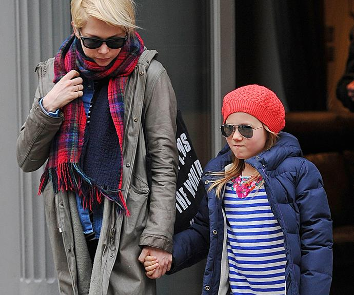 "Michelle Williams and her mini-me [daughter Matilda Ledger](http://www.womansday.com.au/celebrity/hollywood-stars/matilda-looks-just-like-late-father-heath-ledger-13755|target=""_blank"")."