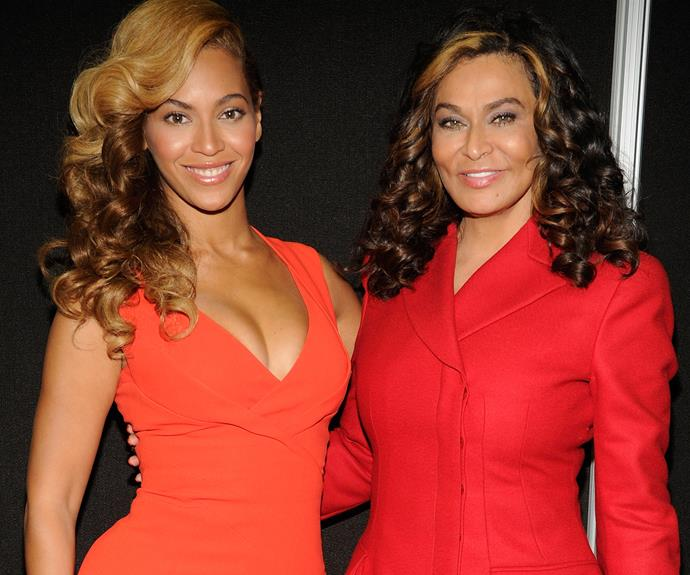 "Beyonce with her mamma, Tina. ""My mother sees the best in everybody,"" she once mused."