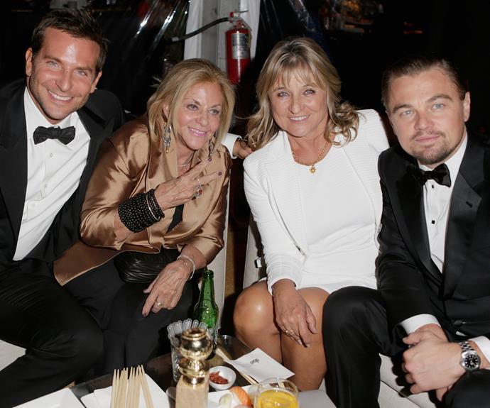 Bradley Copper and Leonardo DiCaprio adore taking their mums to award ceremonies.