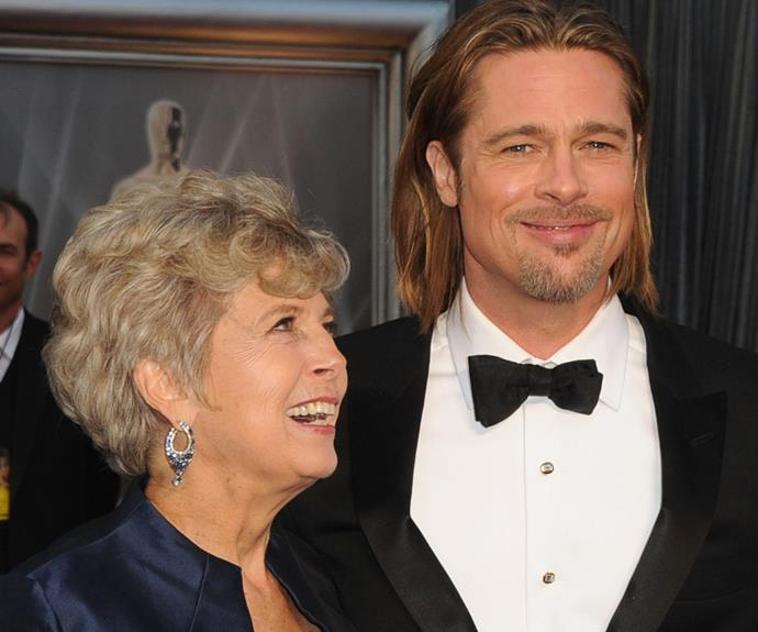"[Brad Pitt](http://www.nowtolove.com.au/tags/brad-pitt|target=""_blank"") with his mother, Jane, who he once described as ""very loving, very open, genuine."""