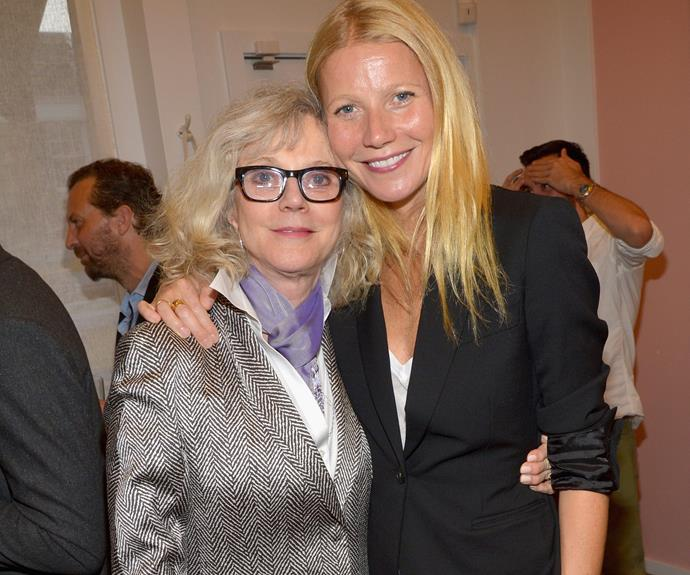 "Gwyneth with her stunning mother, Blythe, who is clearly proud as punch of the actress. ""Gwyn has taught me more than I have taught her, she's an extraordinary mother, there is nothing she cannot do. She is so extraordinary."""