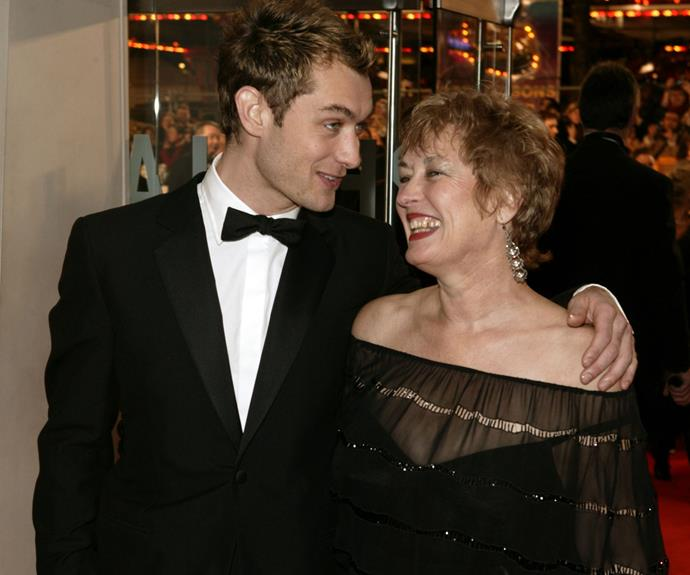 Jude Law with the woman who shaped him, Maggie.