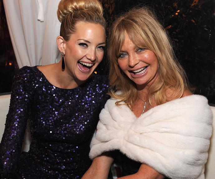 "Kate Hudson is incredibly close to her mum, [Goldie Hawn.](http://www.nowtolove.com.au/relationships/relationship-advice/goldie-hawn-and-kurt-russell-walk-of-fame-37255|target=""_blank"") The 38-year-old recently said, ""What makes mum the best is that she never put any expectations too high on the kids. She just wanted us to be doing the things that made us happy, as long as we were working hard, but we never had to live up to something."""