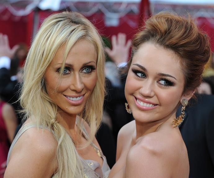Miley with her mamma, Tish Cyrus.