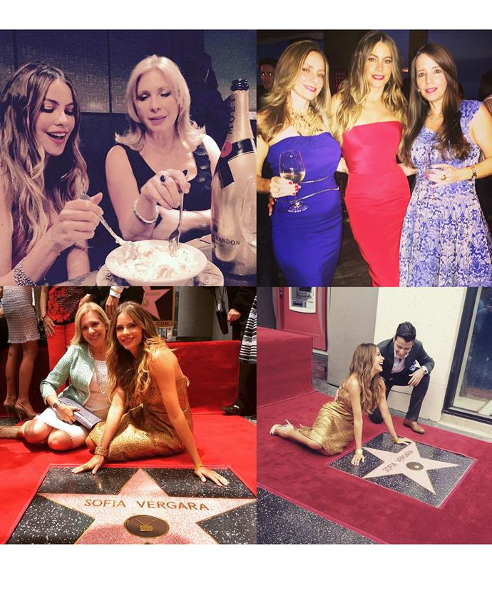 Sofia shared snaps from her party as well as receiving a star on the Hollywood walk of fame - what an eventful week!