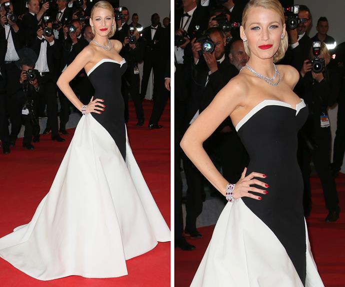 Blake Lively looked immaculate in monochrome in 2013.