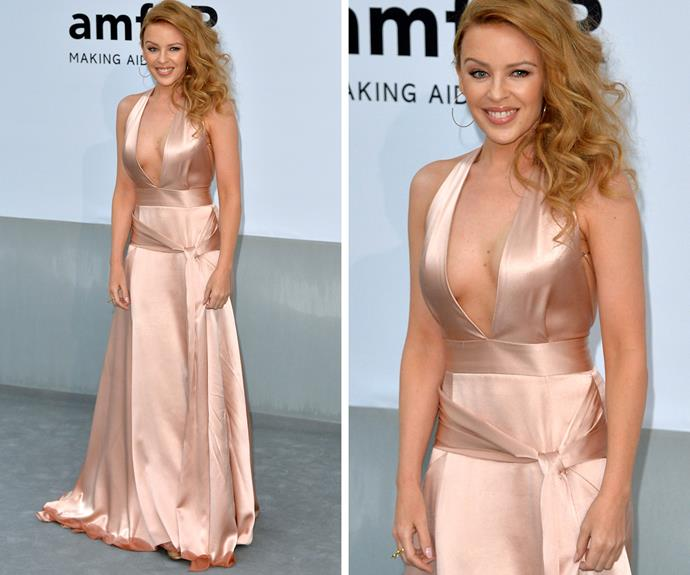 Kylie Minogue at the Cannes Amfar gala in 2014