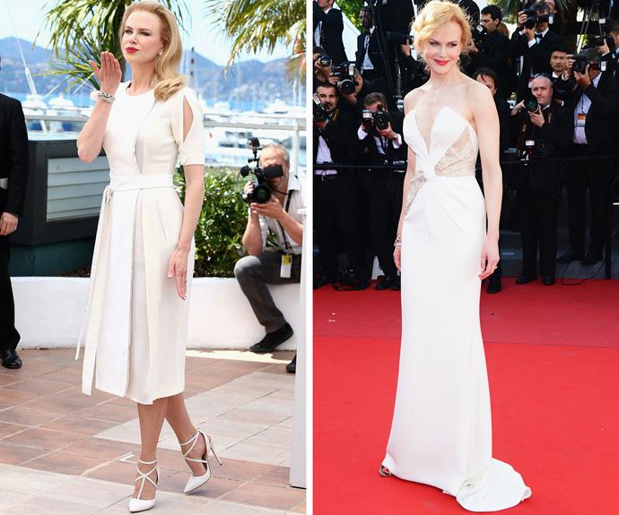 Nicole Kidman channeled silver screen icon Grace Kelly as she promoted the movie about her that she starred in at the 2013 ceremony.