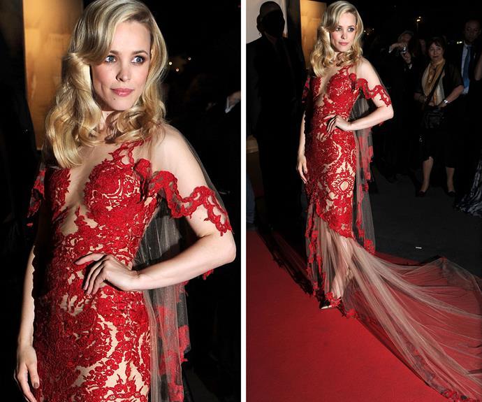 Rachel McAdams looking lovely in lace in 2011.