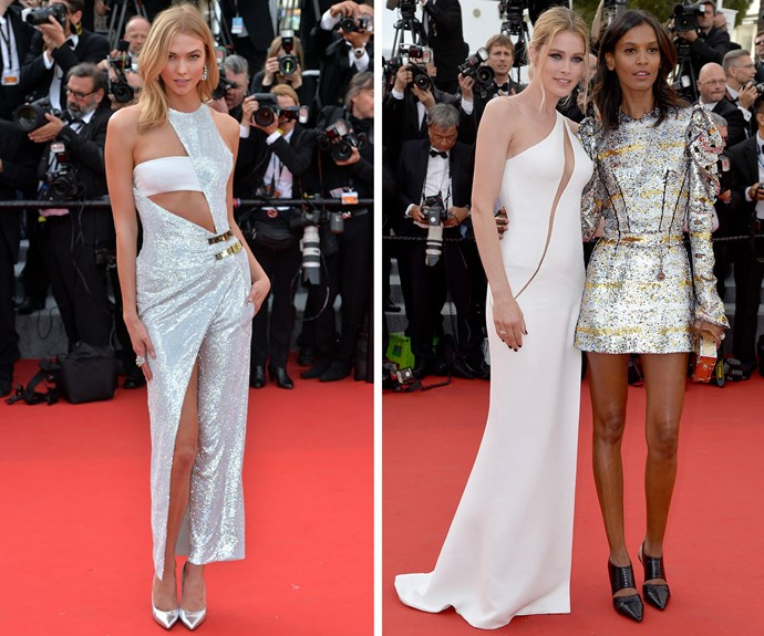 There was a strong model contingent too: Karlie Kloss, Doutsen Kroes and Liya Kebede glammed up the red carpet in whites and metallics.