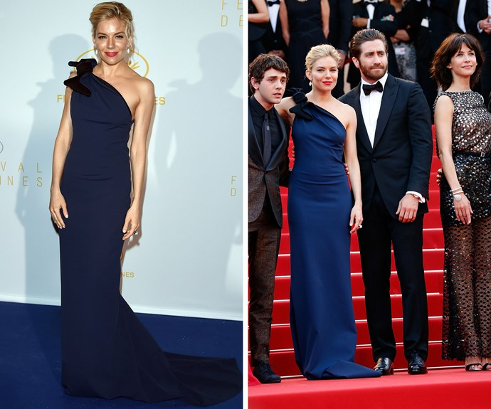Sienna Miller pictured with some of her fully jury members at Cannes.