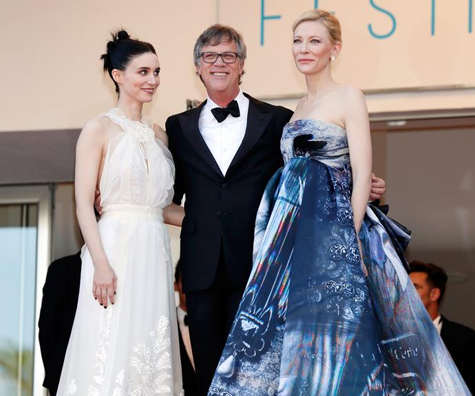 Not even co-star Rooney Mara could keep her eyes off Cate Blanchett, who looked incredible in a strapless gown.