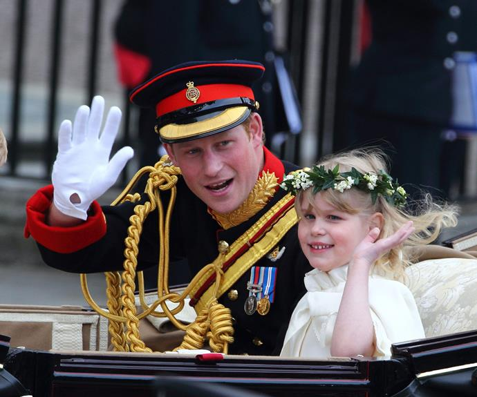 We famously saw Prince Harry in the open-top carriage at William's 2011 wedding.