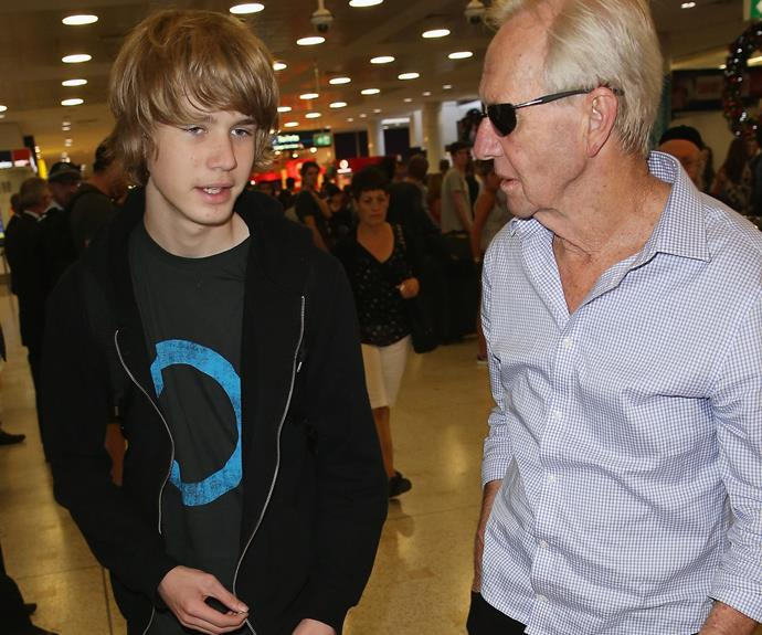 Chance with his famous dad, Paul.
