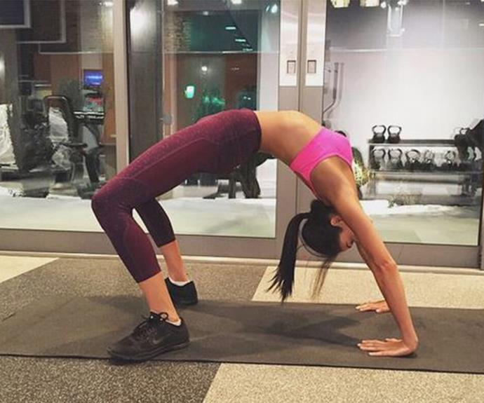 Melbourne-born model Shanina knows how to really Shaik up her work-out!