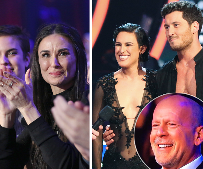 Bruce and Demi couldn't hide their pride for their darling girl.