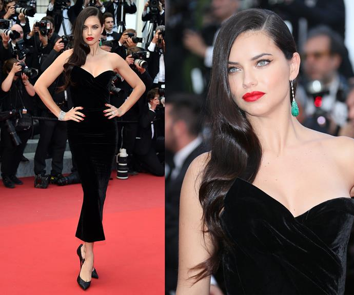 Va va voom! It's no secret Adriana Lima sizzles on the red carpet.