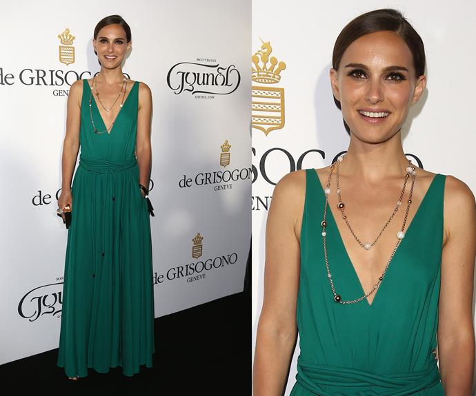 Natalie Portman went for a sophisticated and simple look.