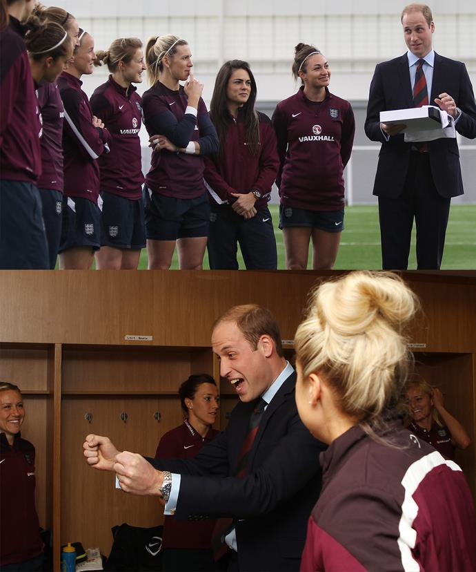 We can just see it... Prince William, George and Charlotte's football coach!