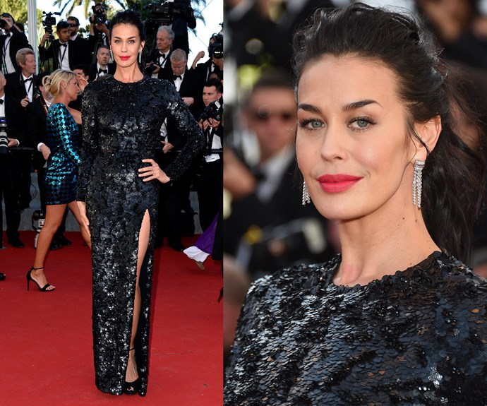 Megan Gale was in full force at Cannes.