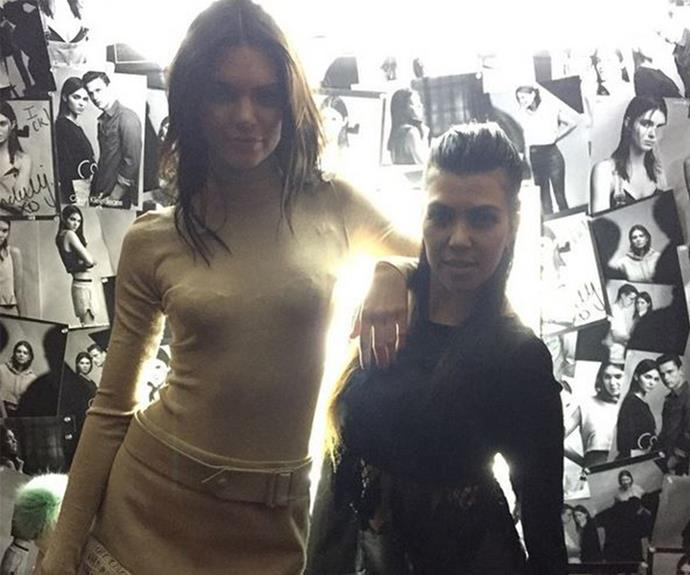 Kourt might be Kendall's big sister but the 19-year-old sits several feet above her sibling.