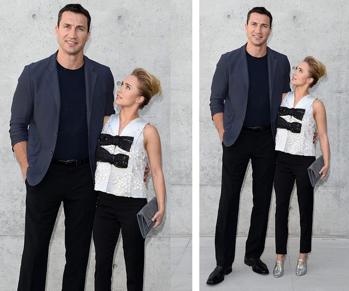 """""""I'm small, but he's large. That's how we met. I said, 'You're huge.' He said, 'You're tiny,'"""" five foot two actress Hayden Panettiere once explained of her six foot six fiancé Wladimir Klitschko."""