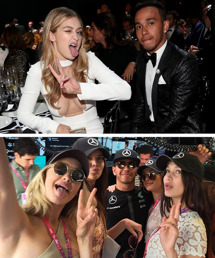 Gigi and Lewis have been spotted in Monaco enjoying each others' company ahead of Lewis racing in Grand Prix.