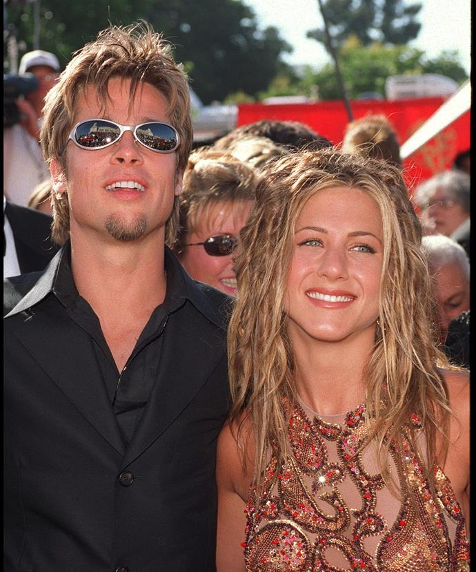 Ahh, the Brad Pitt era and mini-dreadlocks were all the rage. Side note: check out Brad's questionable sunnies.