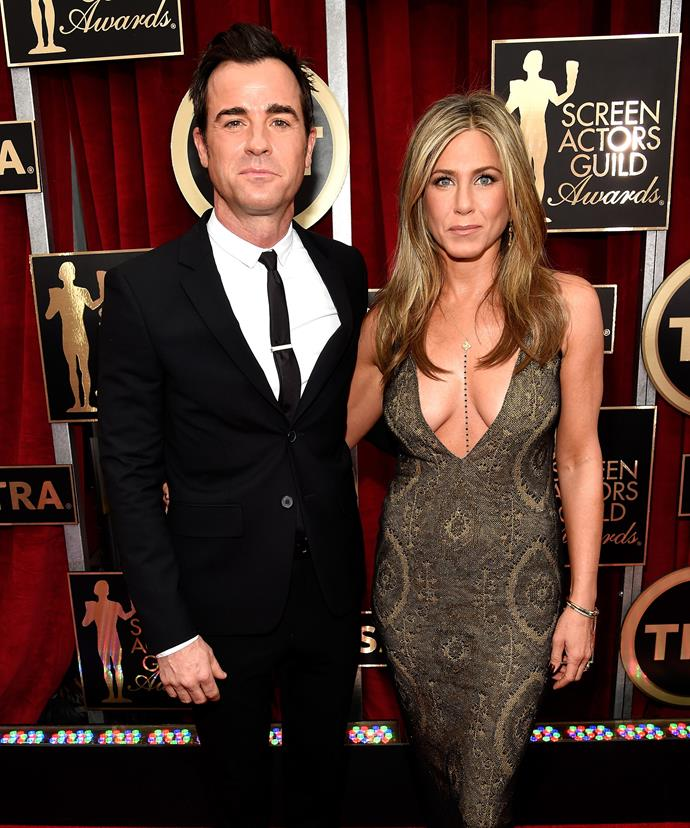 We adore the highlights and her favourite accessory, fiancé Justin Theroux.