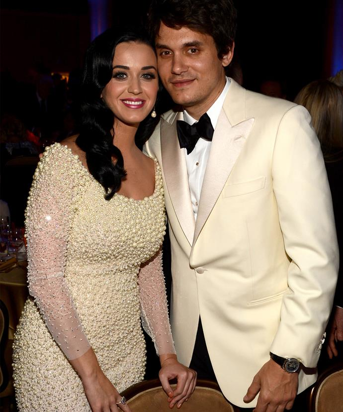 Katy Perry with her current beau, John Mayer.
