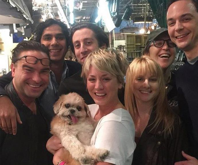 And the Big Bang Theory cast (or as she calls it, The Big Marnie Theory) are pretty fond of her, too.