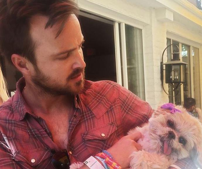 While *Breaking Bad's* Aaron Paul showed off his softer, paternal side when the pair hung out.