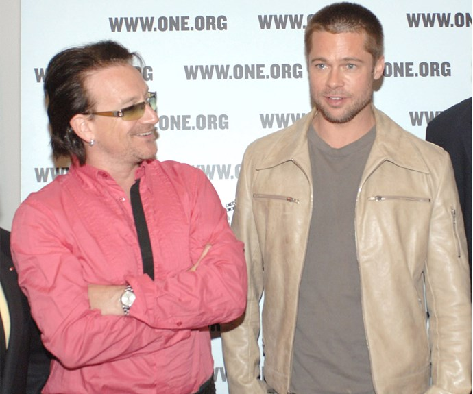 Vivienne and Knox Jolie-Pitt not only have two parents in Angelina Jolie and Brad Pitt, but the lucky twins' godfather is none other than, U2 rocker Bono.