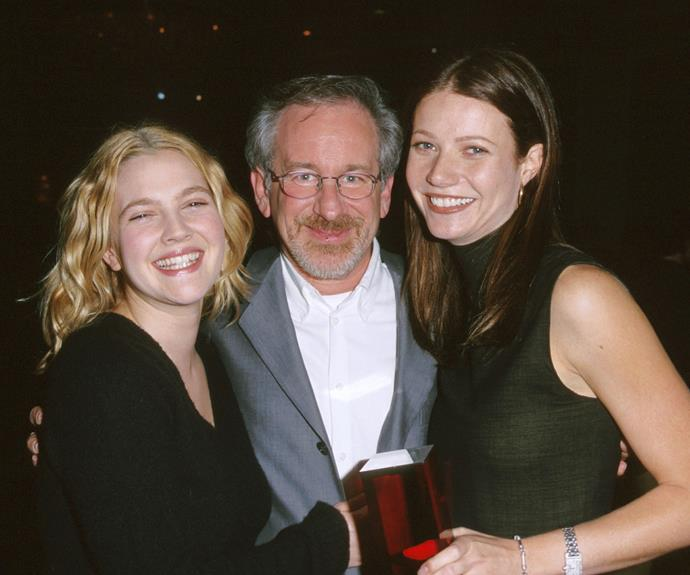 "Meanwhile, Steven Spielberg steps up as godfather to both Gwyneth Paltrow AND Drew Barrymore. We imagine family get-togethers would be pretty fun. The director famously sent Drew a quilt for her 20th birthday with a note that read, ""Cover yourself up."""