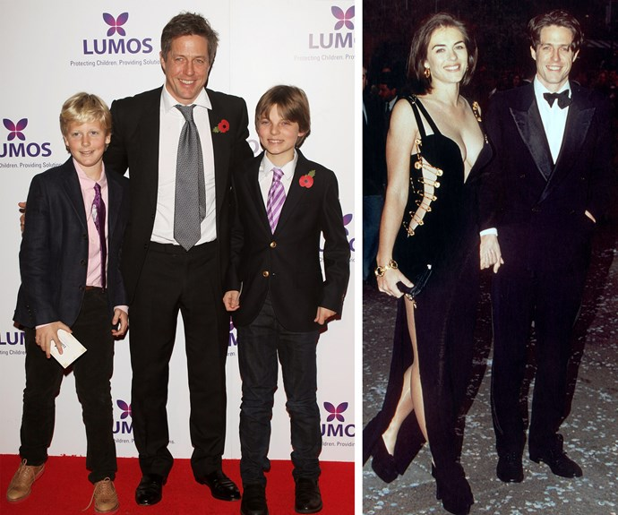They may have been lovers in the Nineties, but these days Hugh Grant is Liz Hurley's son Damian's godfather.