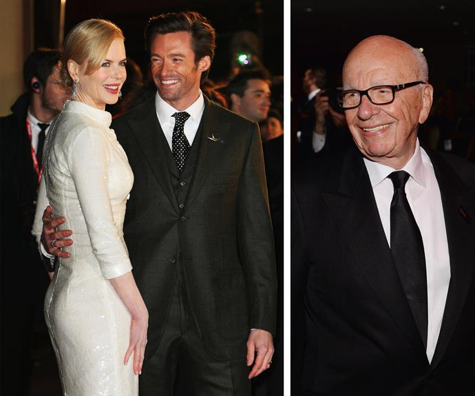Nicole Kidman and Hugh Jackman are godparents to Rupert and Wendi Murdoch's two girls, Grace and Chloe.
