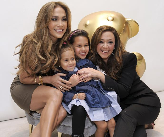 Jennifer Lopez gave the coveted position of godmother to her twins with Marc Anthony, Max and Emme to bestie and actress Leah Remini.