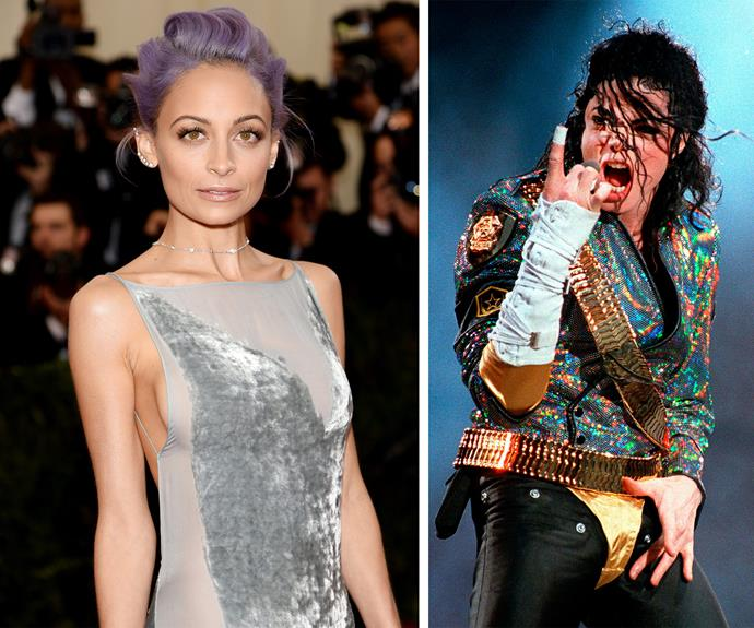 Nicole Richie's godfather is none other than the late King Of Pop - Michael Jackson!