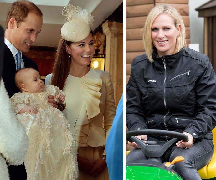 Stepping up for the HUGE job of Prince George's godmother is Zara Phillips.