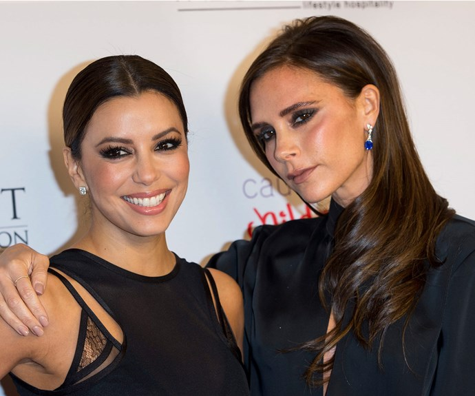 Eva Longoria is Harper Beckham's godmother, who gushed she was 'thrilled' to have the job.