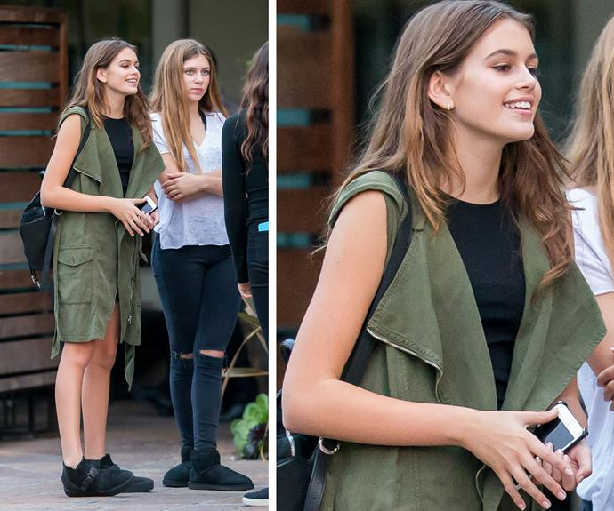 The 14-year-old embodies her mum's supermodel good looks.