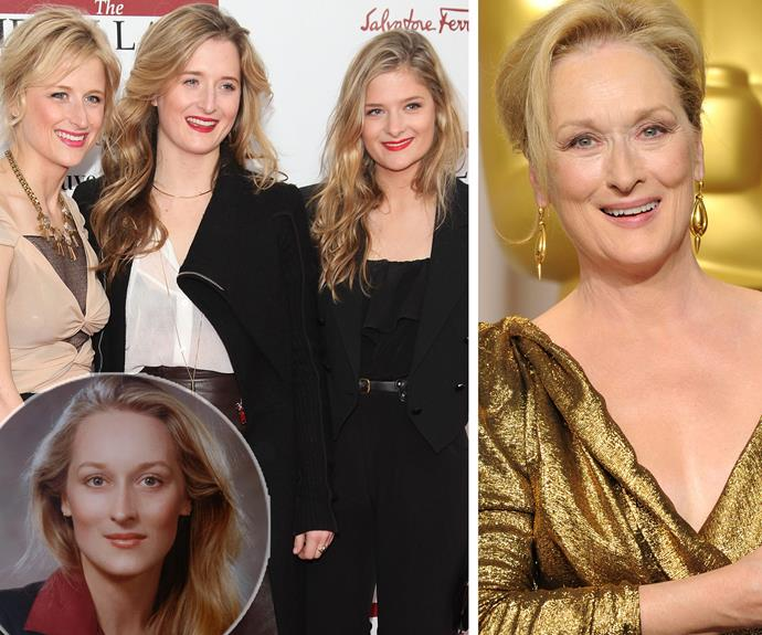 Meryl Streep's girls, Mamie, Grace, and Louisa Gummer all bear a striking resemblance to their famous mother - especially in her heyday.