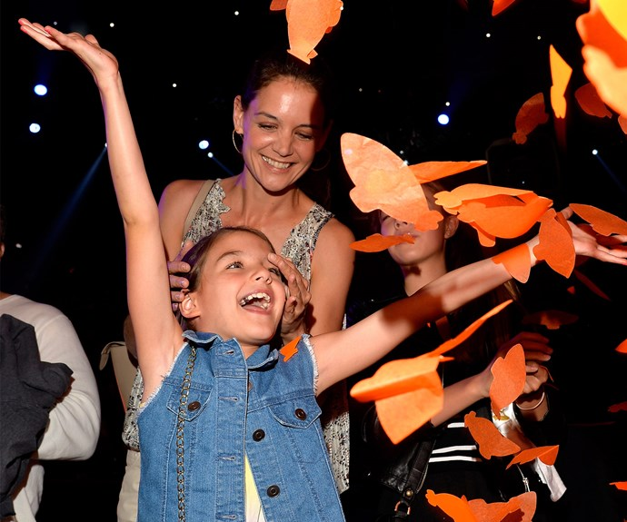You'd be forgiven if you mistook Katie Holmes to be daughter Suri Cruise's sister!