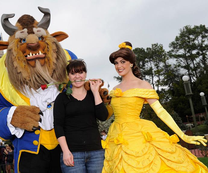 Belle of the ball! Kelly Clarkson is more than happy to be Beauty and the Beast's guest.