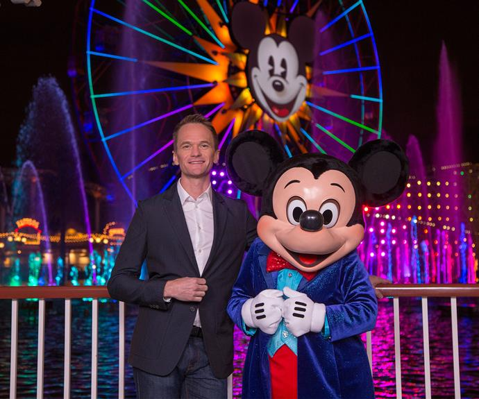 Neil Patrick Harris sure knows how to light up the theme park.