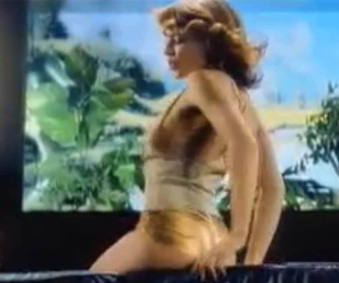 And who could forget *those* gold hot pants that she rocked in the 2000 video for *Spinning Around*.