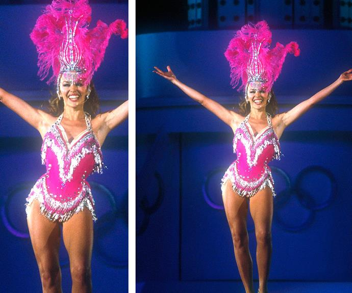 Miss Minogue injected so much colour into the 2000 Sydney Olympics Opening Ceremony.