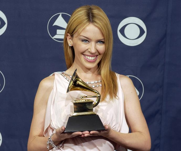 In 2004, the starlet scored a Grammy for Best Dance Recording thanks to her hugely-popular track *Come into My World*.