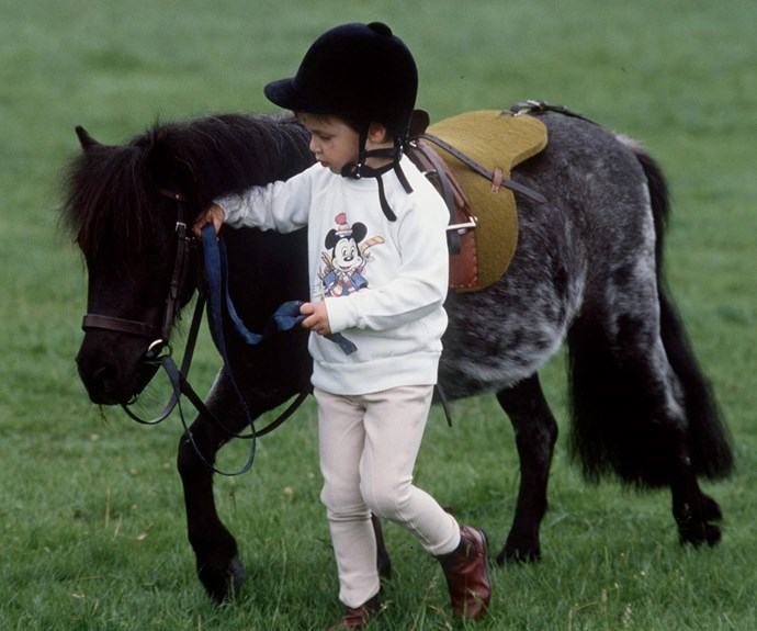 Prince William with his very cute pony.